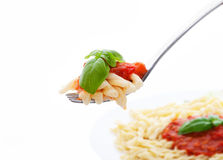 Pasta and meat sauce Stock Image