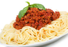 Pasta with meat sauce Royalty Free Stock Images
