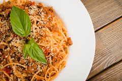 Pasta with meat Royalty Free Stock Images