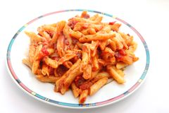 Pasta with meat and tomatoes Royalty Free Stock Images