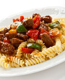Pasta with meat Royalty Free Stock Photos