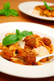 Pasta and meatballs Stock Photo