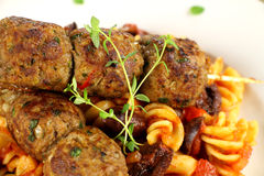 Pasta And Meatballs Royalty Free Stock Image