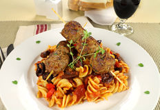 Pasta And Meatballs Royalty Free Stock Photos
