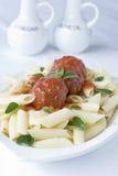 Pasta Meatballs Stock Image