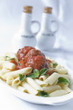 Pasta Meatballs Royalty Free Stock Photos