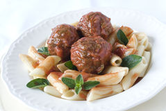 Pasta Meatballs Royalty Free Stock Photo