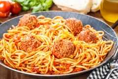 Pasta and Meatballs Royalty Free Stock Images