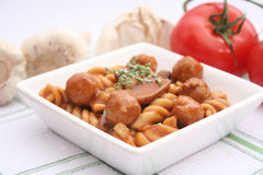 Pasta with meatballs Stock Photo