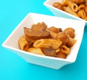 Pasta with meatballs Royalty Free Stock Photos