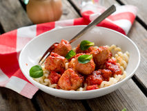 Pasta with meatballs Royalty Free Stock Image