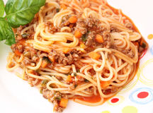 Pasta with meatsauce Royalty Free Stock Photography