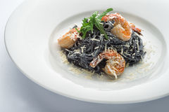 Pasta med bläckfiskfruktsaft Royaltyfri Foto