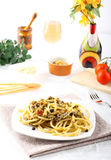 Pasta med ny sardines och fennel Royaltyfri Foto