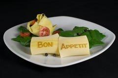 Pasta med trevlig bokstäver Royaltyfri Bild