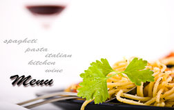 Pasta menu Royalty Free Stock Images
