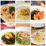 Pasta menu Stock Images