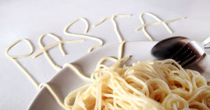 Pasta menu concept Stock Photography