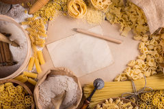 Pasta menu Royalty Free Stock Photography