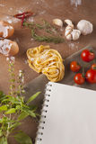 Pasta menu Royalty Free Stock Photography