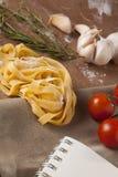 Pasta menu Royalty Free Stock Photo