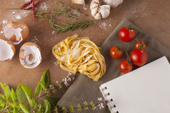 Pasta menu Stock Photos