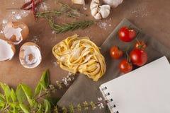 Pasta menu Stock Photos