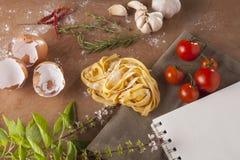 Pasta menu Stock Photography