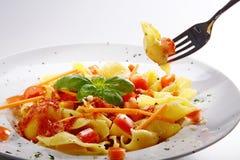 Pasta menue Stock Image