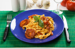 Pasta milanese Royalty Free Stock Images