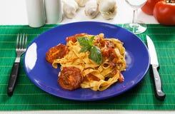 Pasta milanese Royalty Free Stock Images
