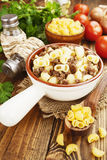 Pasta with minced meat Royalty Free Stock Image