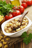 Pasta with minced meat Stock Photos
