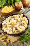 Pasta with minced meat Royalty Free Stock Photography