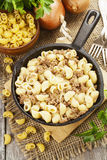 Pasta with minced meat Stock Images