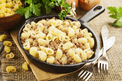 Pasta with minced meat Royalty Free Stock Photos