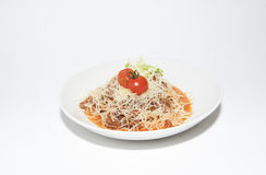 Pasta with minced meat Stock Photography