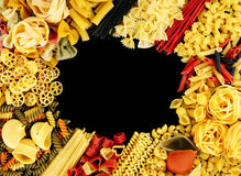 Pasta mix frame Stock Image