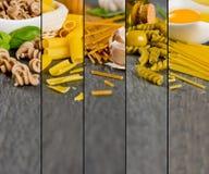 Pasta Mix Stripes Royalty Free Stock Photo