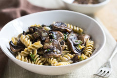 Pasta with mushroom and herb sauce Stock Photography