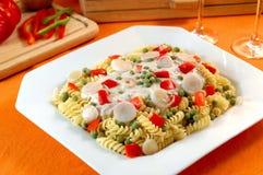 Pasta with mushroom sauce royalty free stock image