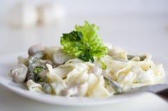 Pasta with mushrooms Royalty Free Stock Photos