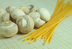 Pasta and mushrooms Royalty Free Stock Photography