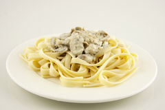 Pasta with mushrooms Royalty Free Stock Image