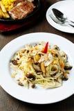 Pasta with mushrooms Royalty Free Stock Image