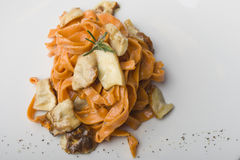 Pasta with mushrooms Stock Image