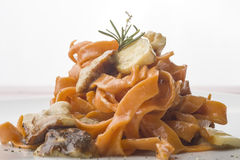 Pasta with mushrooms Stock Photography