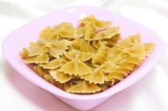 Pasta na forma de uma fita Foto de Stock Royalty Free