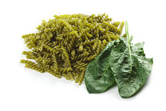 Pasta with natural green colorant Royalty Free Stock Photos