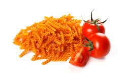 Pasta with natural red colorant Royalty Free Stock Images